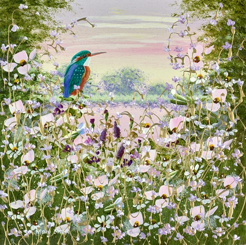 Kingfisher's View by Mary Shaw - Original Painting on Board